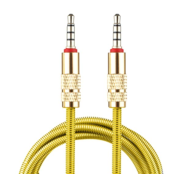 Lilware Metal Braided Audio 3. 5mm Cable with Metal Plated Jack - 3. 5mm