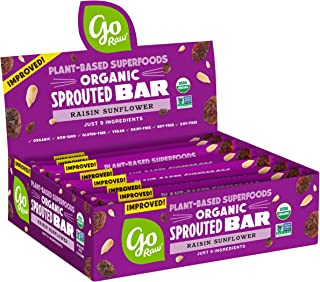 product image for Go Raw Seed Bars, Raisin Sunflower | Keto | Gluten Free Snacks | Vegan | Organic | Paleo | Superfood (10 Bars)