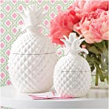 Two's Company Pineapple Jars With Lid, Set of 2