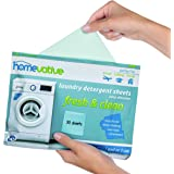 Homevative Laundry Detergent Sheets, Easy dissolve, 30 sheets, Fresh & Clean scent, Eco-friendly package, Great for…