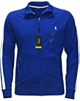 Polo Ralph Lauren Men's PERFORMANCE TRACK JACKET FULL ZIP BIG AND TALL PAC ROYAL