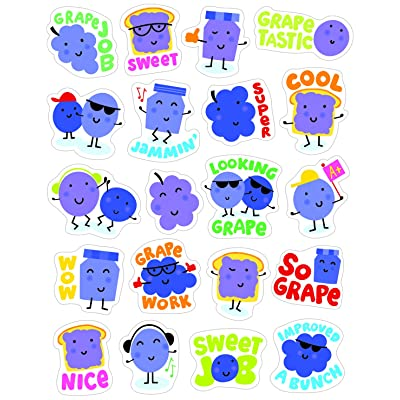 Eureka Grape Stickers - Scented: Office Products