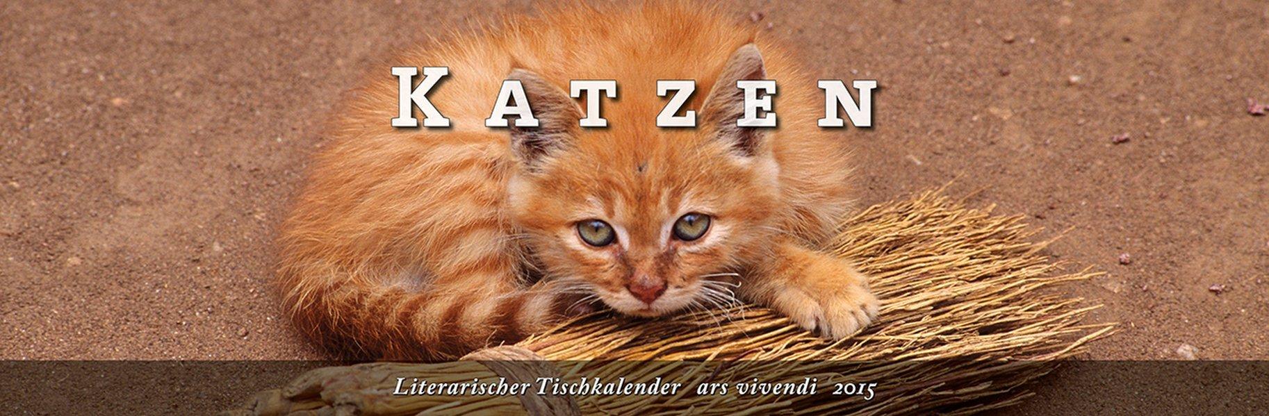 Literarischer Tischkalender Katzen 2015
