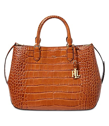 00ddb620bf Image Unavailable. Image not available for. Color  Lauren by Ralph Lauren  Croc-Embossed Sabine Satchel