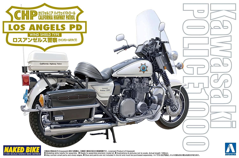 Amazon Com Aoshima Models Aos 003336 Kawasaki Police 1000 Window