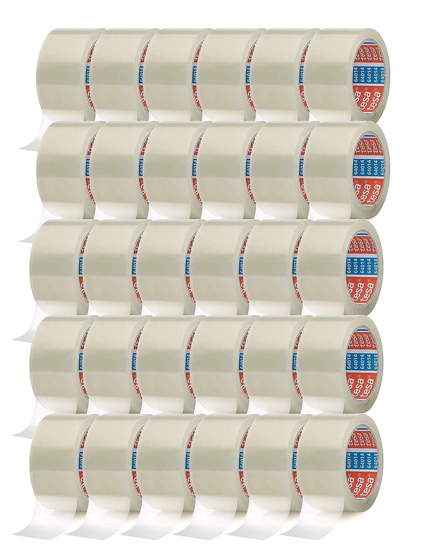 tesa Cinta Adhesiva del paquete cinta adhesiva 66 m x 50 mm 12 Rollos//Marr/ón