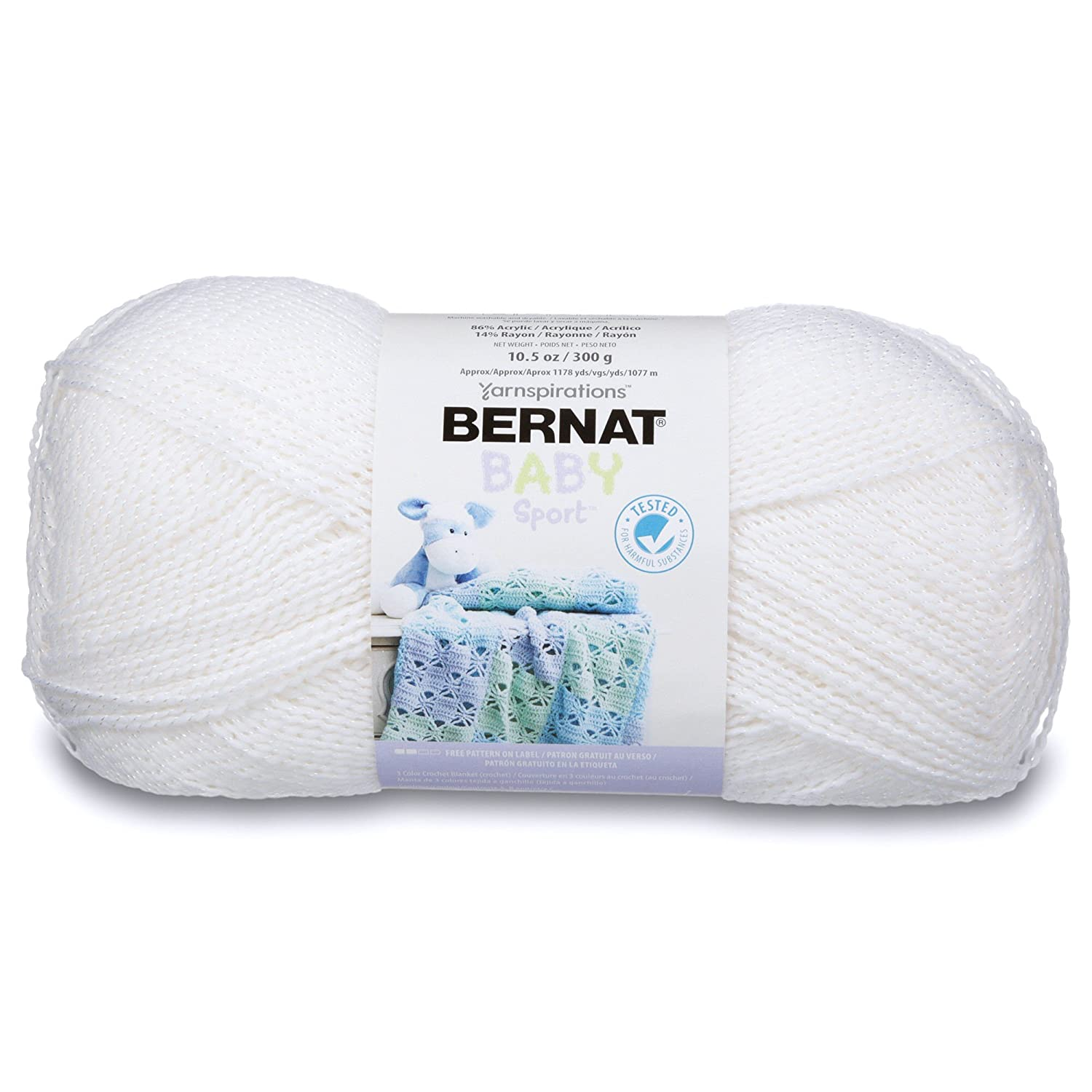 Amazon.com: Bernat Big Ball Baby Sparkle Yarn - (3) Light Gauge 100 ...