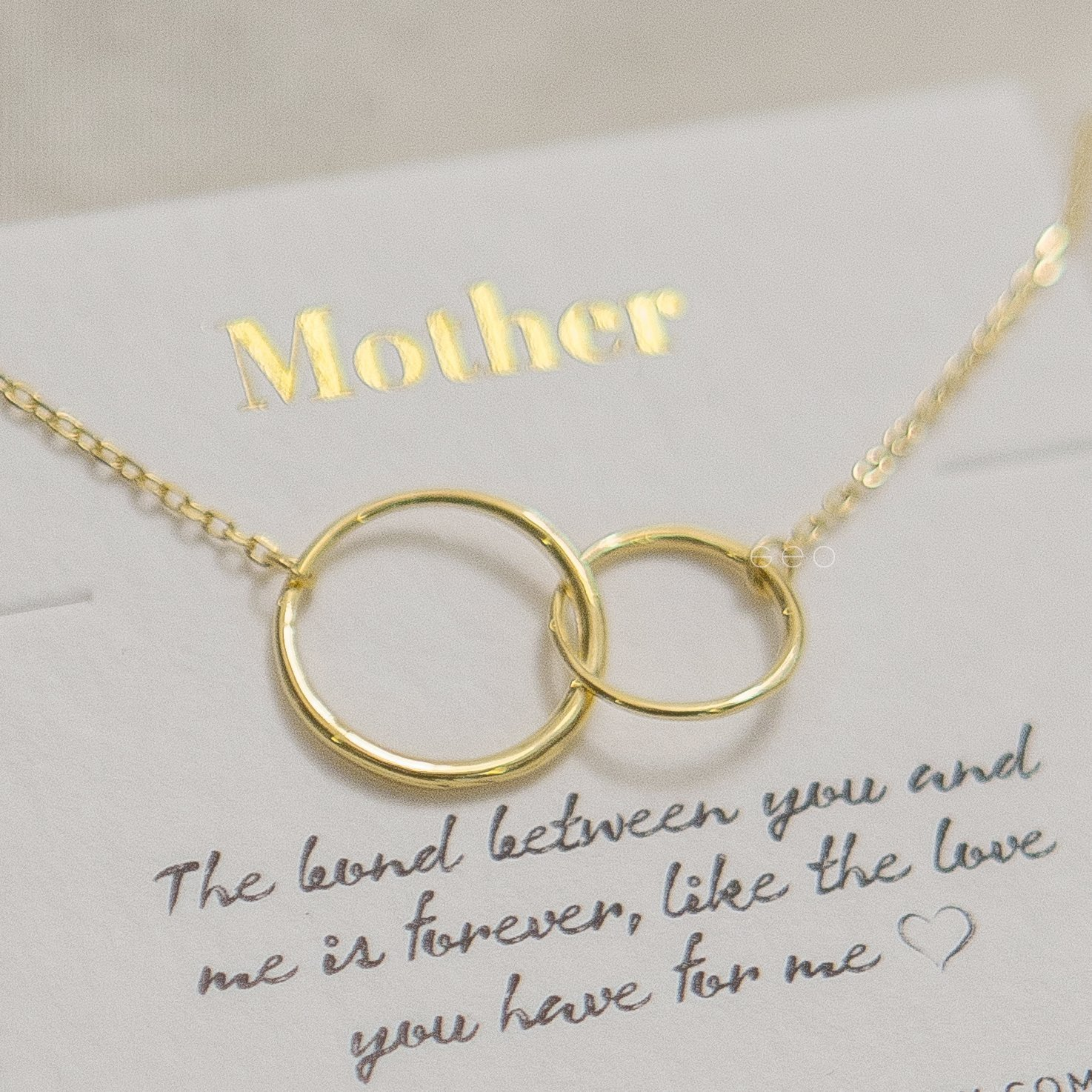 Mom and Daughter Necklace with Card  Genuine Raw Herkimer Diamond  Mother and Daughter Gift Set of Two  Inspirational Gift for Mommy