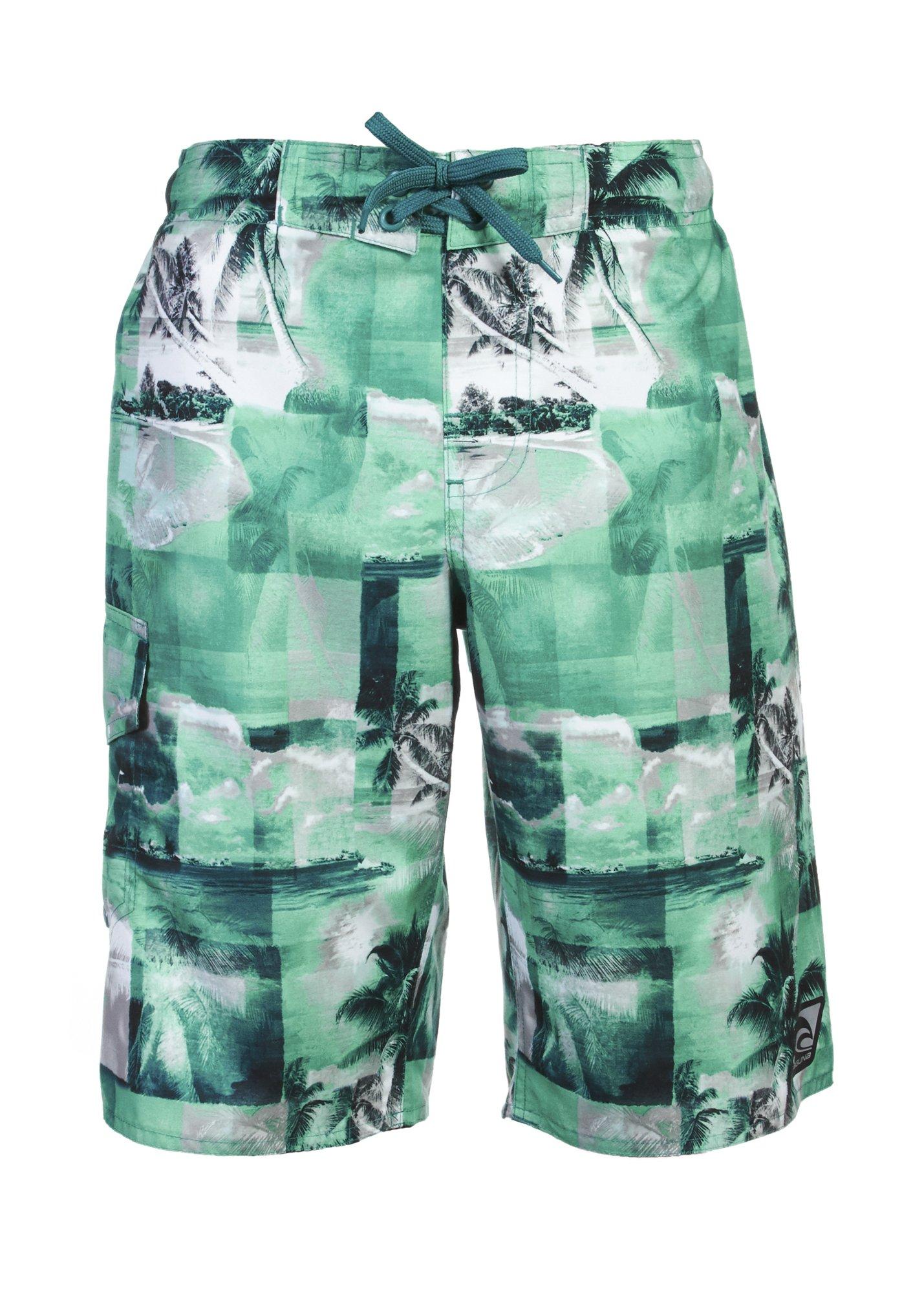 12887862d7 LAGUNA Boys Tropical Paradise Pattern Boardshorts Swim Trunks Bathing Suit,  UPF 50+ product image