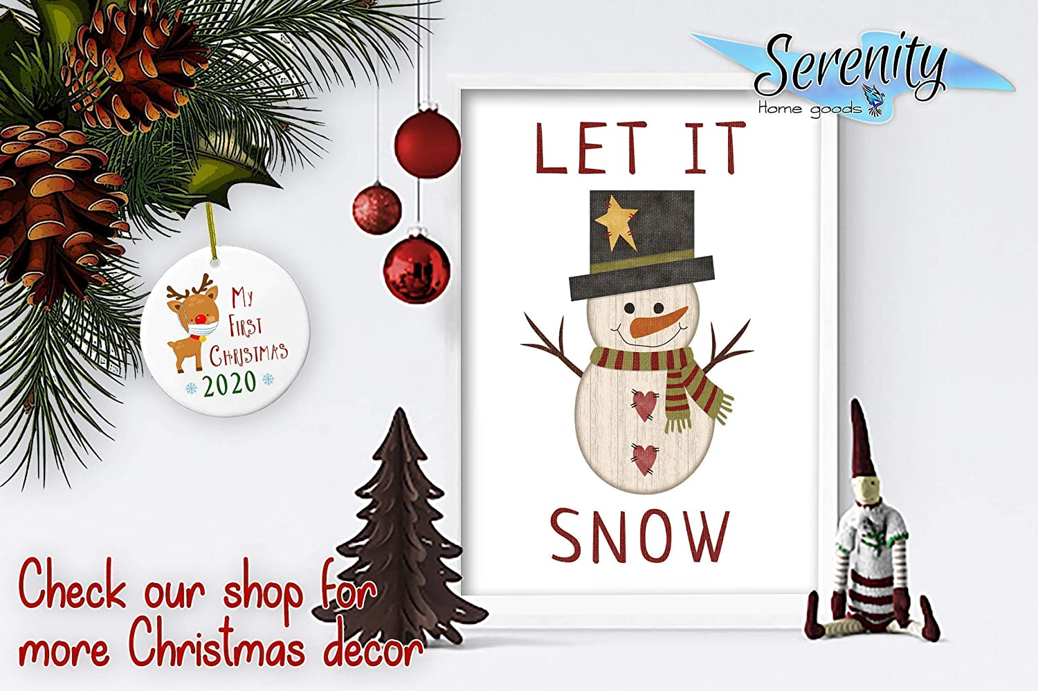 FRIEND CHRISTMAS 4 QUALITY DESIGNS TO CHOOSE FROM