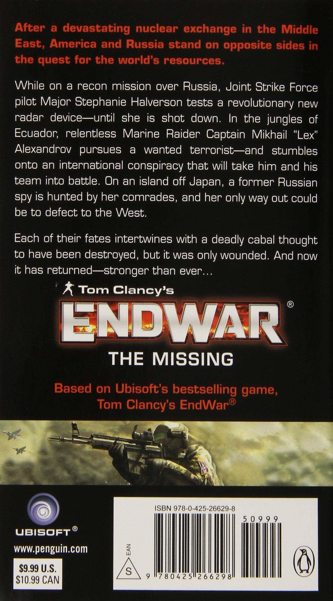 Hd wallpaper 3 tom clancy s endwar online - Amazon Com Tom Clancy S Endwar The Missing 9780425266298 Peter Telep Tom Clancy Books
