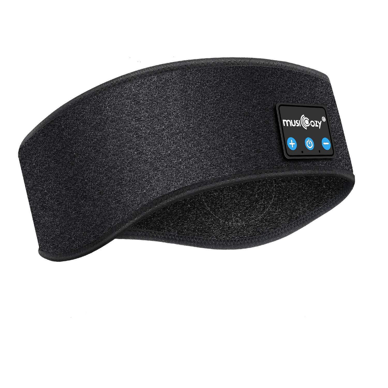 Sleep Headphones, Eye Mask with Headphones for Sleeping, Bluetooth 5.0 Sleep Headphones Headband Music Headset Handsfree Eye Shades Built-in Speakers Microphone for Travel Sleeping Running(Washable)