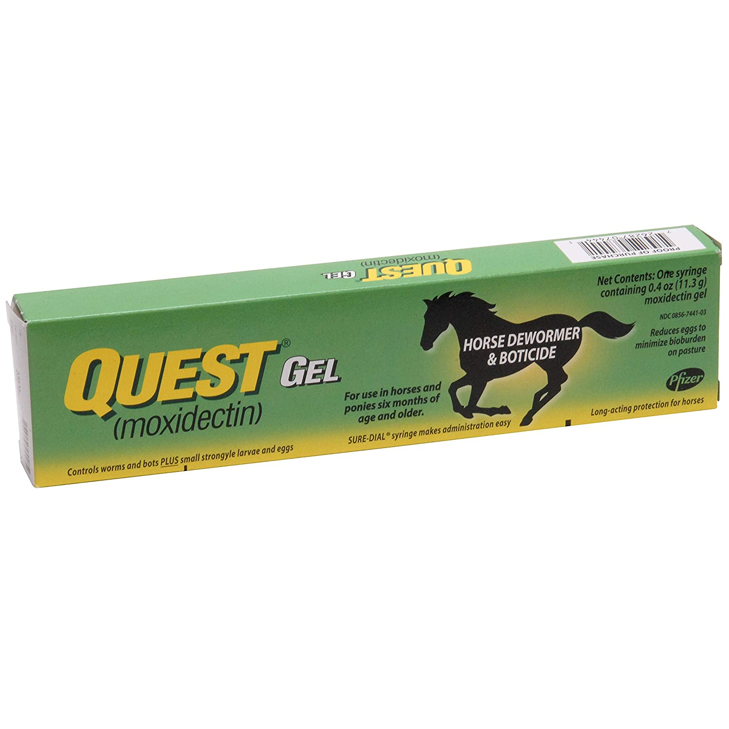 Quest Gel Horse Dewormer, 2% Moxidectin Zoetis (formerly Pfizer Animal Health)