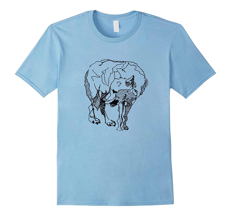 Gray Wolf Artist's Sketch Shirt-TH