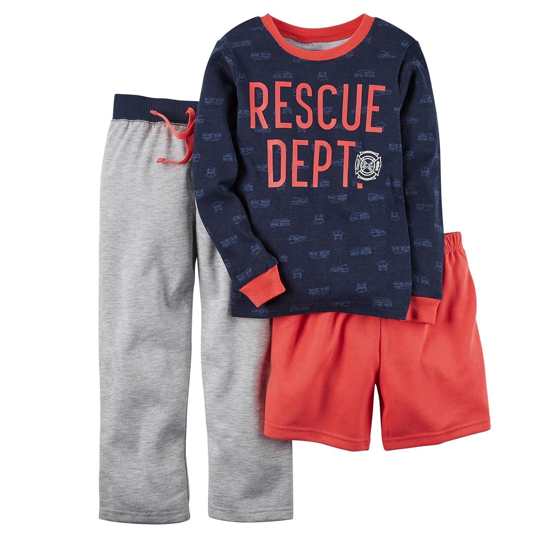 Carters Little Boys Rescue 4 pc Pajama Set 7