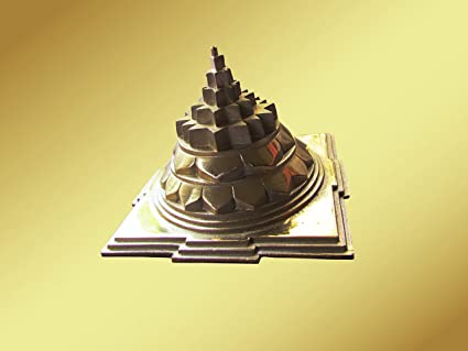 Shiv Yog Mettalic Meru (10 8cm X 14 4cm, Red Brass)