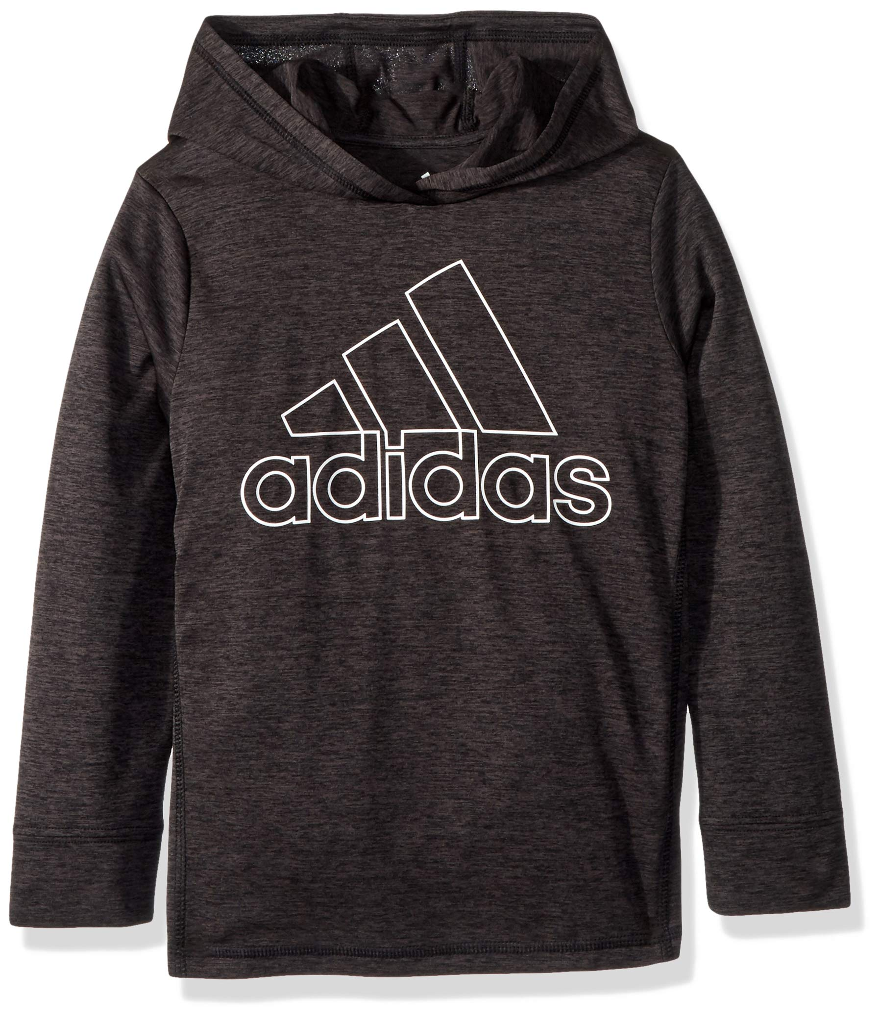 adidas Big Boys' Athletic Pullover Hoodie, Black Heather, XL(18/20)