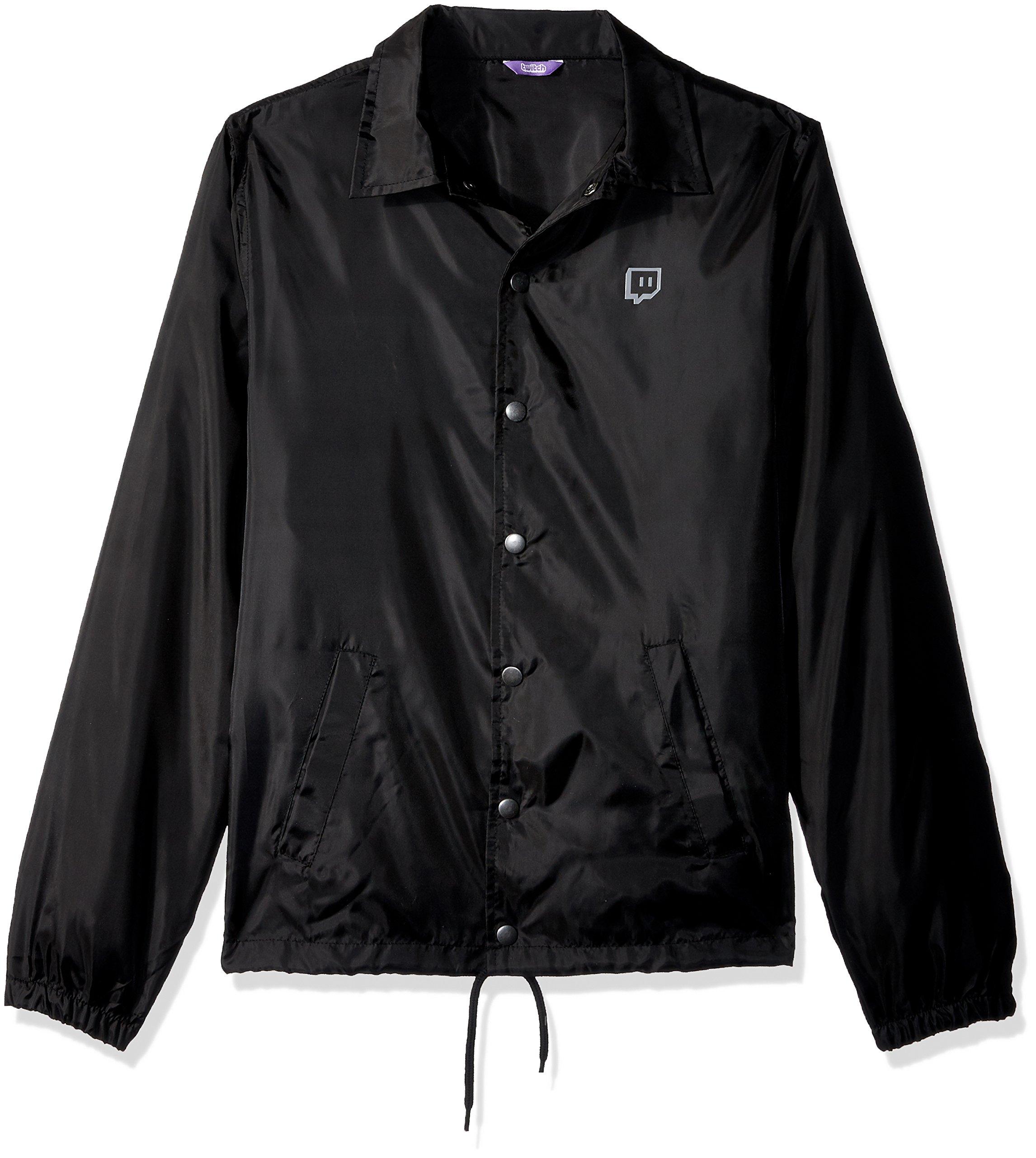 Twitch Cut Logo Coaches Jacket (Small) by Twitch