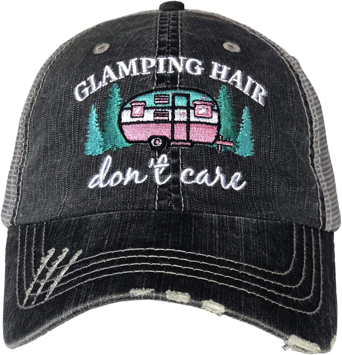 Katydid Glamping Hair Don't Care Trucker Hat Grey