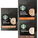 Nescafe Dolce Gusto - Starbucks - 3 cajas (36 cápsulas) de café Cappuccino, Latte Macchiato, Caramel Macchiato
