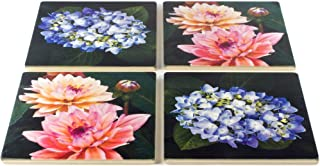 product image for Floral Coasters - From Original Painted Photography By Martha Everson - Set of 4 Coasters