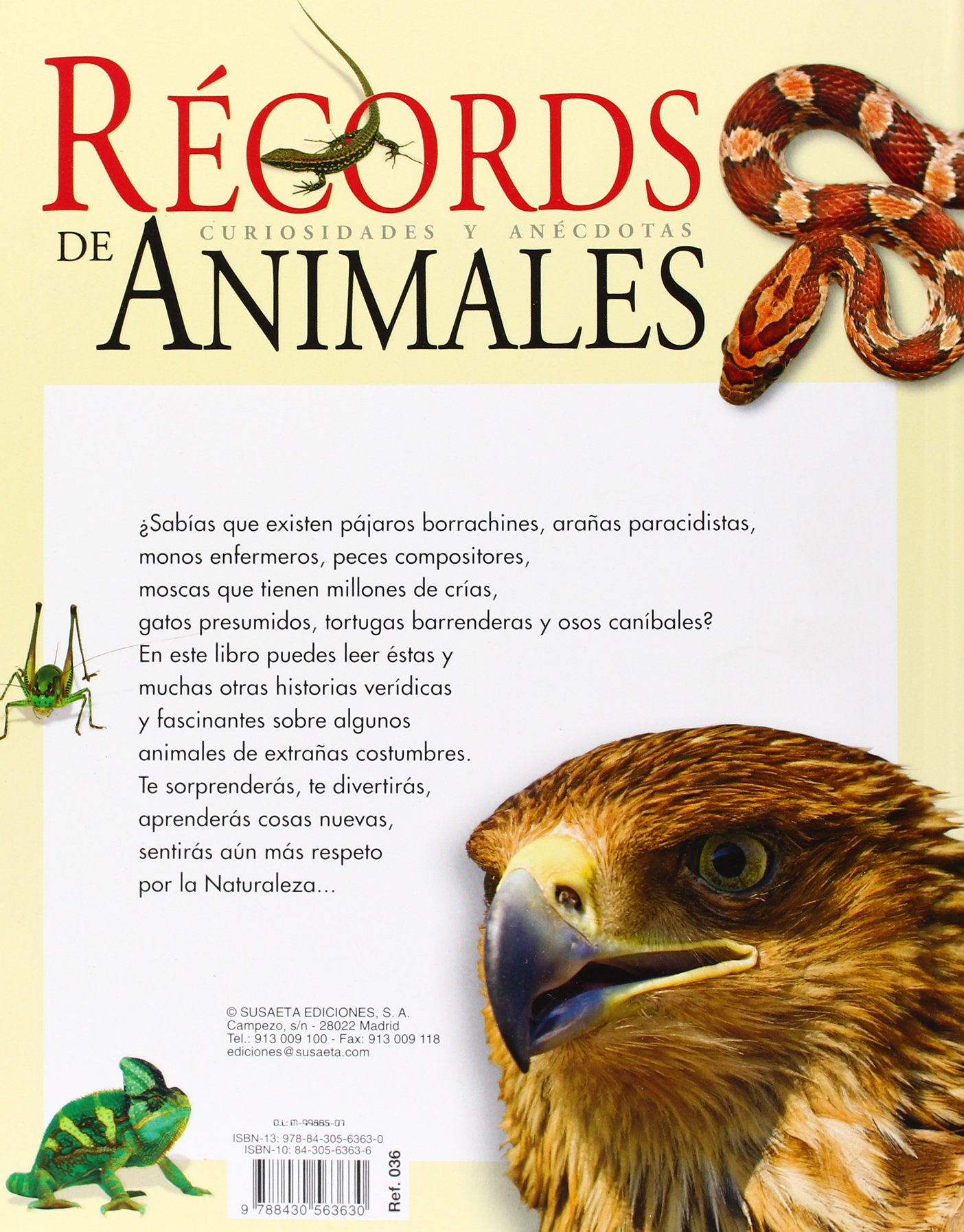 Amazon.com: Récords de animales: Curiosidades y anécdotas (Spanish Edition) (9788430563630): Inc. Susaeta Publishing: Books