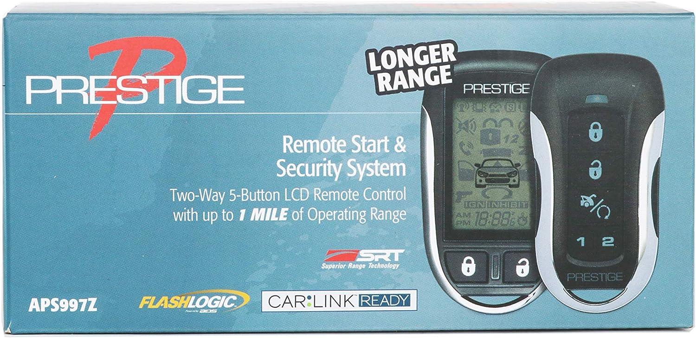 Prestige APS997Z 2-Way 5-Button LCD Remote Control w/ 1 Mile Operating Range