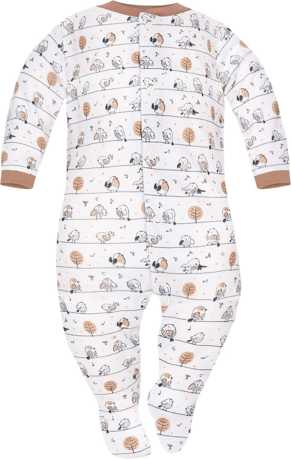 SIBINULO Baby Boys Baby Girls Sleepsuit with Feet Mix Pack of 2 Sizes 0-9 Months