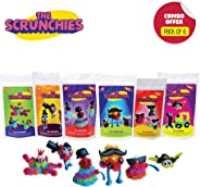 Toiing Scrunchies Party Favor Combo - Pack of 6 Monster Family Construction Sets for Kids (5 to 10 Year olds)