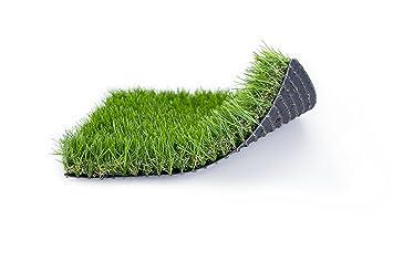 Césped artificial de gran calidad y suavidad ideal para jardines EVERT GRASS Life 37mm (Rollo