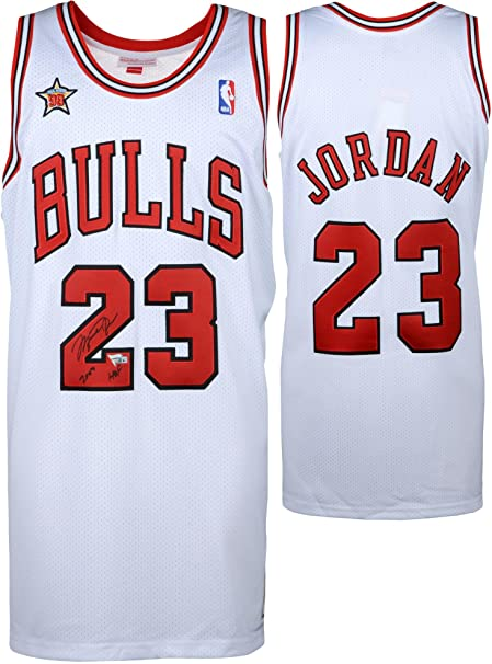 finest selection f1395 9ebfe Michael Jordan Chicago Bulls Autographed White Mitchell ...