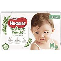 Huggies Platinum Naturemade Tape Diapers M 64s, 192 count (Pack of 3)