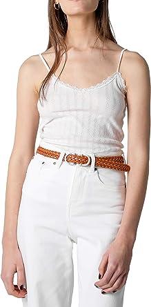 Scalpers Camiseta LENCERA CALADOS - Camiseta para Mujer, Talla XS, Color Blanco: Amazon.es: Ropa y accesorios