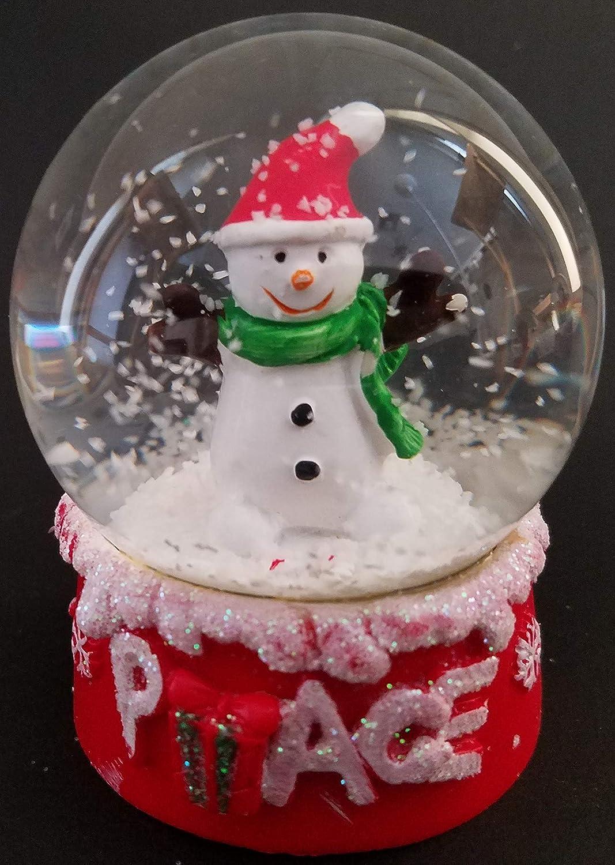Frosty Peace or Santa Hope Elf Joy Christmas Snow Globes 2.5 Select: Elf Joy