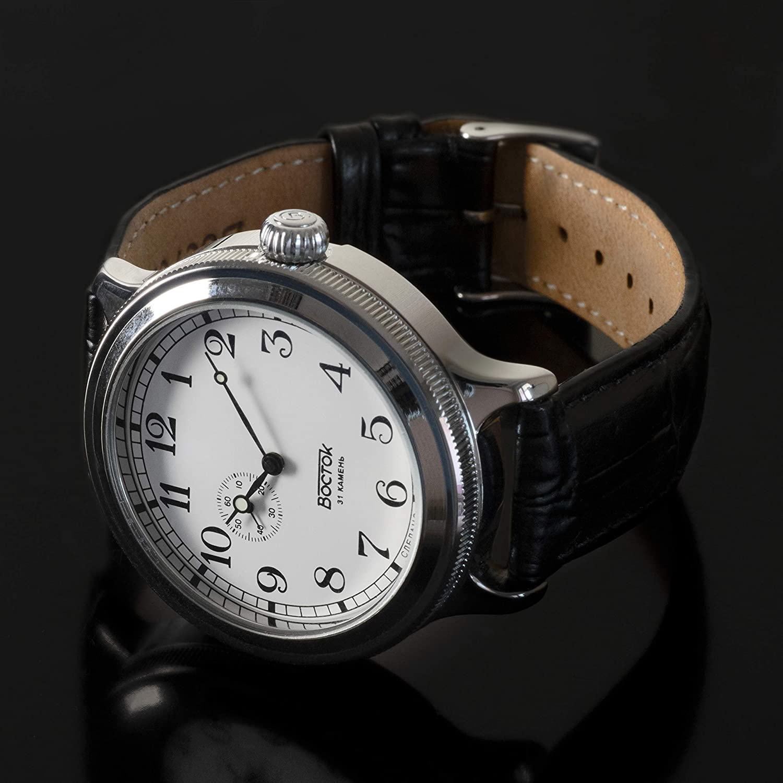 Amazon.com: Vostok Retro KIROVSKIE K-43 WWII Self-Winding Mens Wrist Watch Leather Strap #550946: Watches