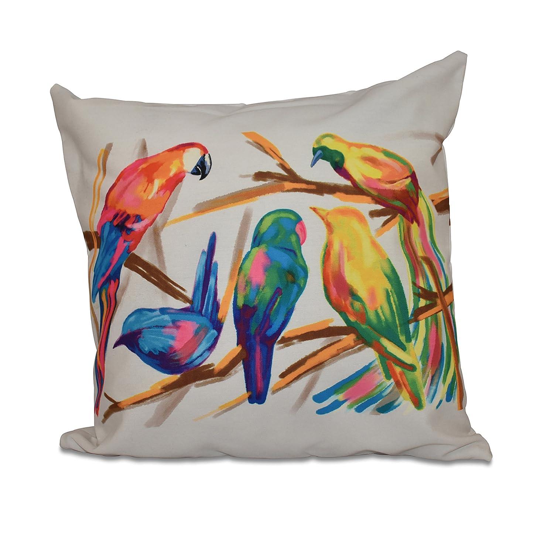 Amazon.com: E Por Diseño Happy Aves Imprimir almohada ...