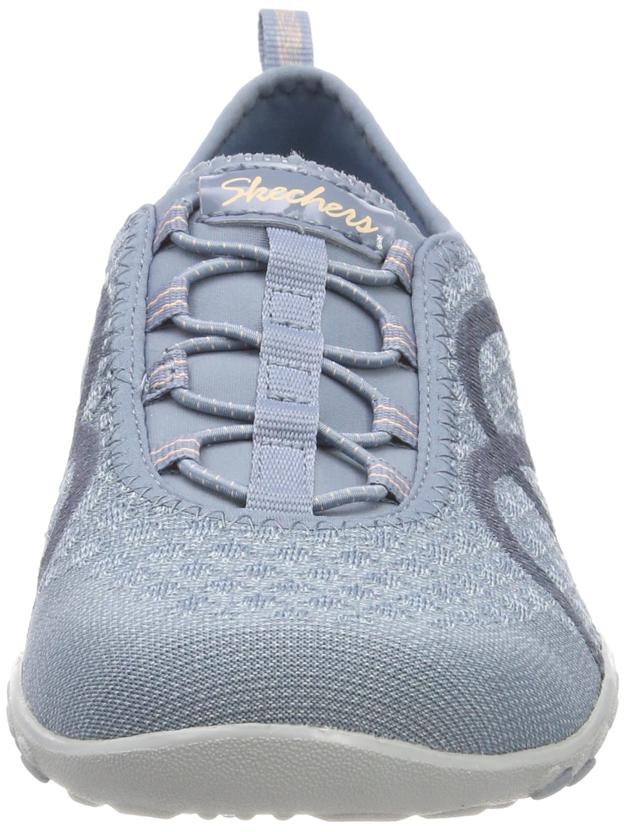 Skechers Relaxed Fit Breathe Easy Fortune Knit Womens Bungee Sneakers Blue 8 by Skechers (Image #4)