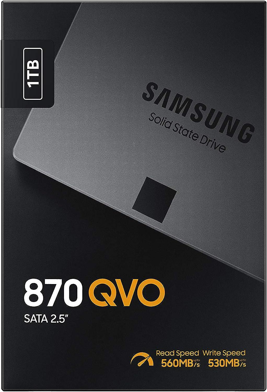 Caja presentación del Samsung 870 QVO