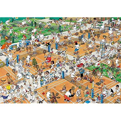 Animation Puzzles, Wooden Puzzles 300/500/1000 Pieces, Tennis Court Adult Creative Gift Decompression Jigsaw Puzzles Cartoon Educational Toys for Children (Size : 1000): Toys & Games
