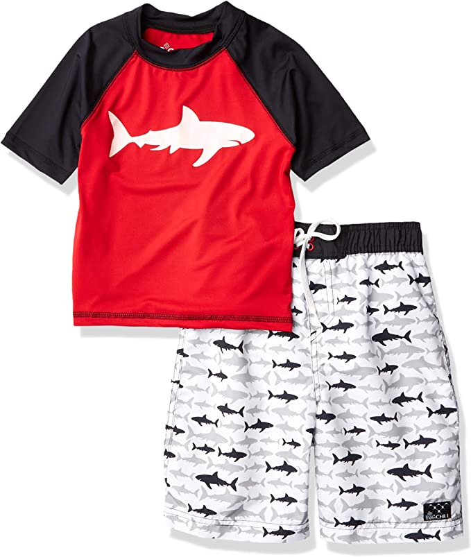 Big Chill Boys Big Printed Two Piece Rashguard Sets