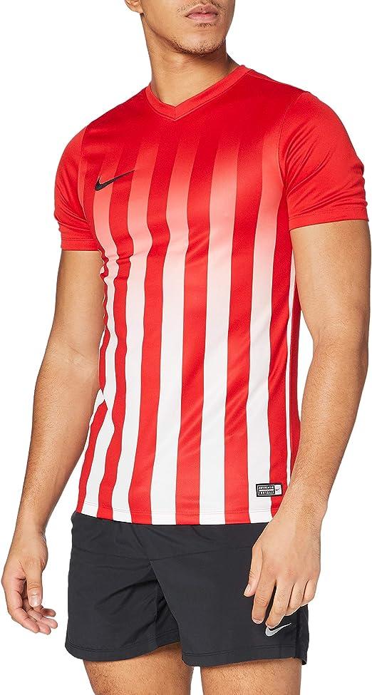 NIKE SS Striped Division II JSY Camiseta del Fútbol, Hombre