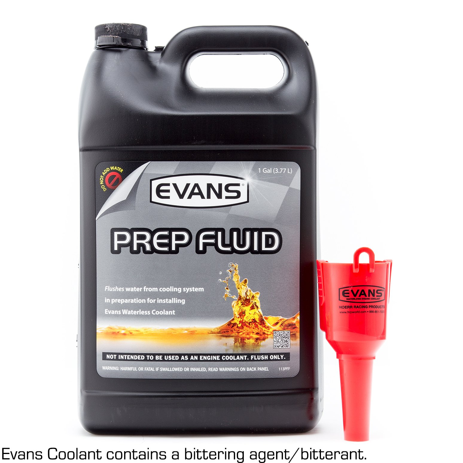EVANS Cooling Systems EC42001 Waterless Prep Fluid, 128 fl. oz. with Funnel by EVANS
