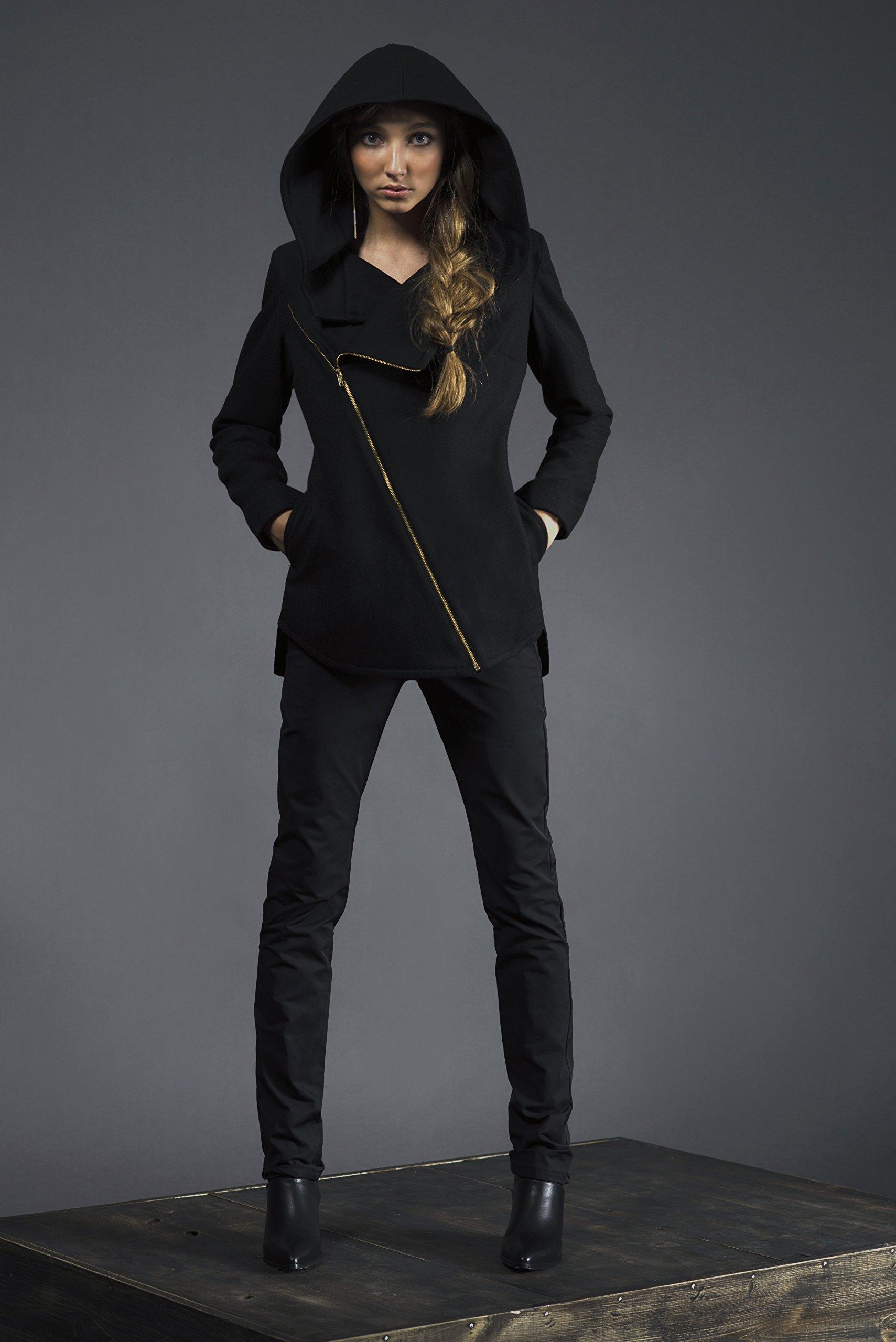 Women's Cross Zip Hooded Jacket