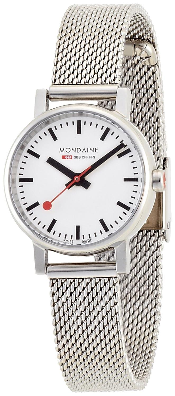 Mondaine Zifferblatt Armband Mesh Bahnhofsuhr DamenuhrWeisses Evo Schweizer Offizielle Petite Mit Silberfarbenem QdrxBoeCW