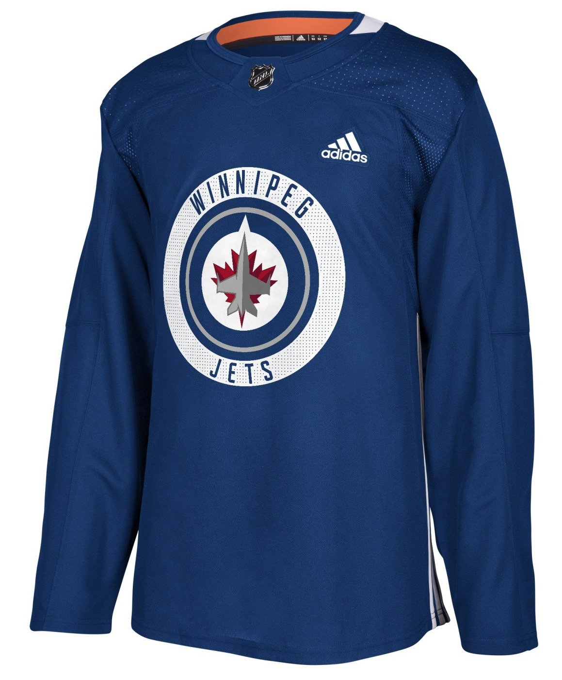 new style 31d6e 6662a Winnipeg Jets Adidas NHL Men's Climalite Authentic Practice ...