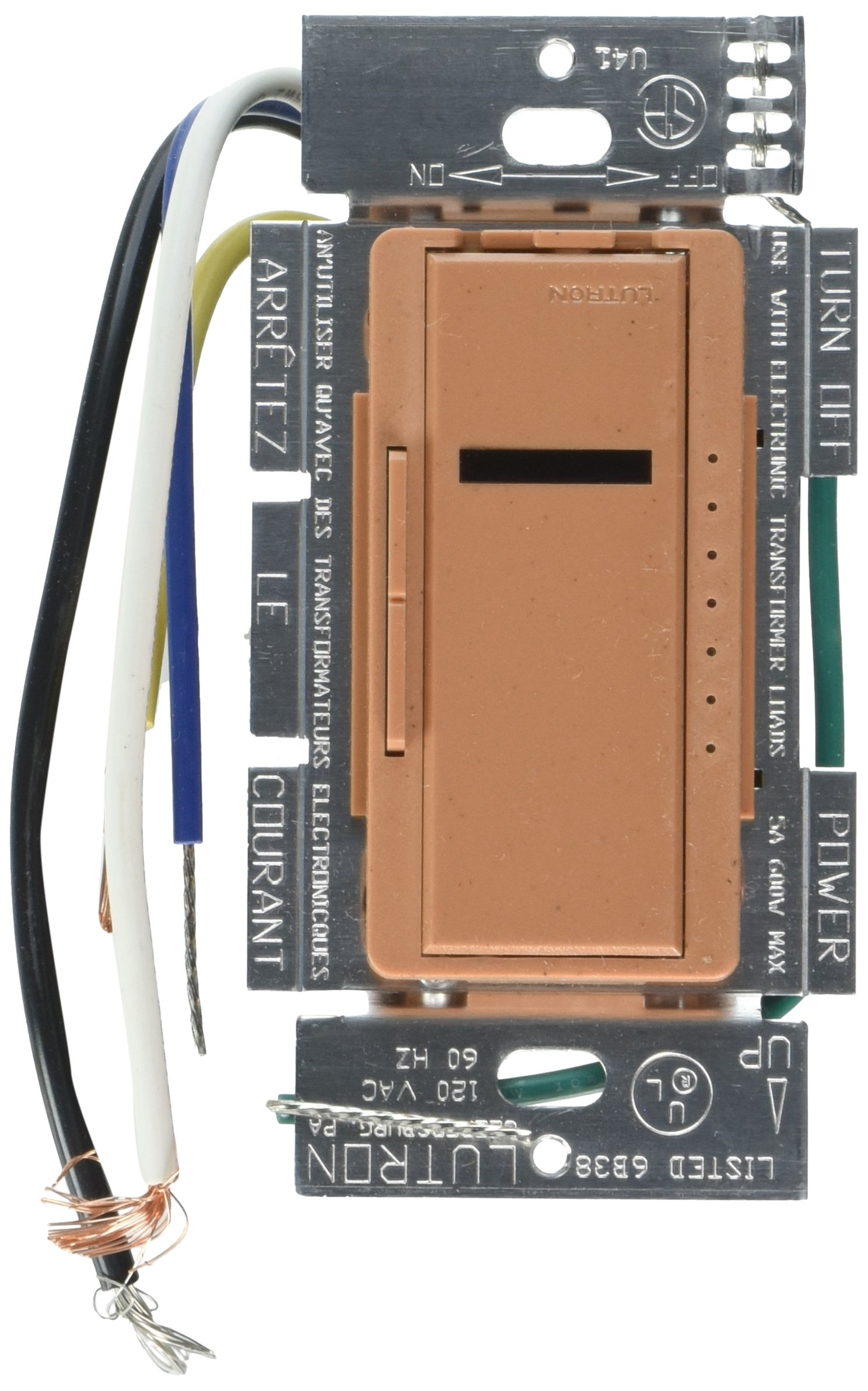 Lutron Lutron MIRELV-600M-TC Maestro IR 600-Watt Multi-Location Electronic Low-Voltage Dimmer, Terracotta by Lutron