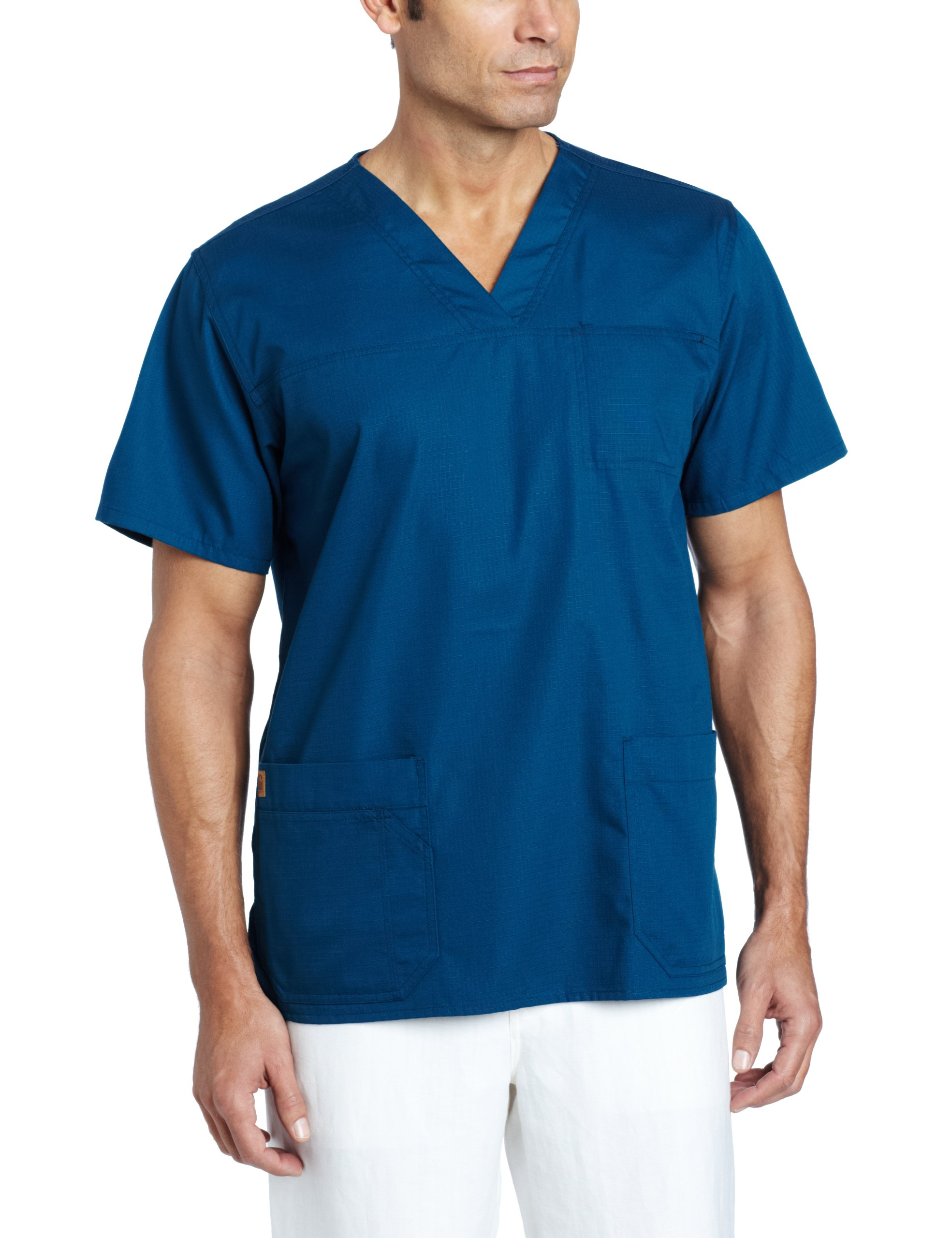 Carhartt Men's Ripstop Multi Pocket Scrub Top, Caribbean, X-Large