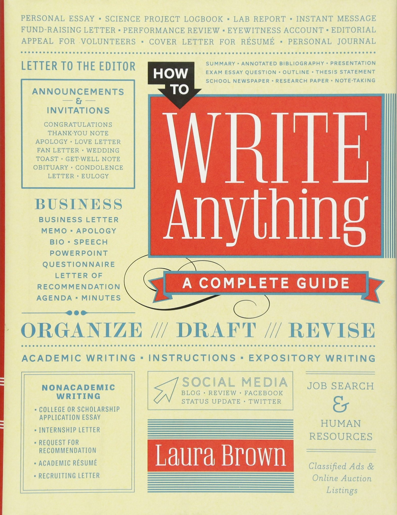 How to Write Anything: A Complete Guide: Amazon.es: Laura ...