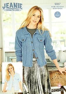 60e0101bb3db2 Stylecraft 9357 Knitting Pattern Womens Denim Style Jackets in Stylecraft  Jeanie Aran