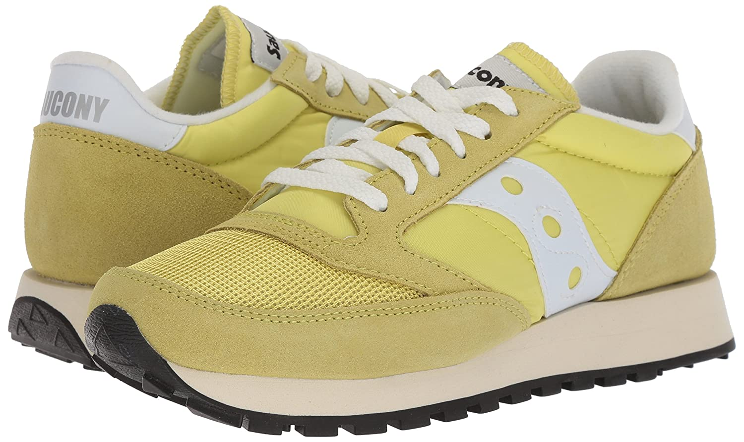 Saucony Originals Women's Jazz Vintage B(M) Running Shoe B071X5FVCW 8.5 B(M) Vintage US|Yellow/White 5e4944